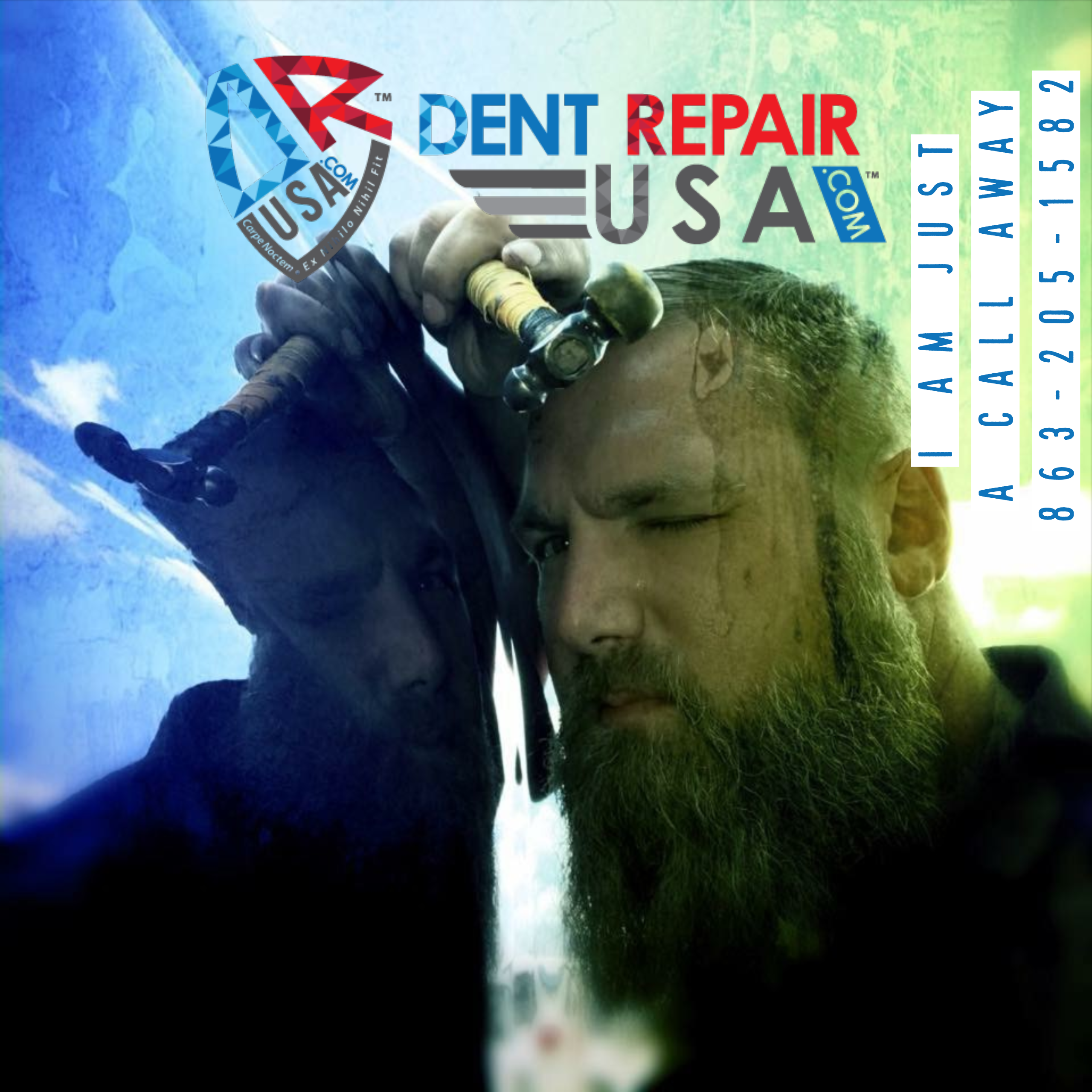 Dent Repair Technitian Working