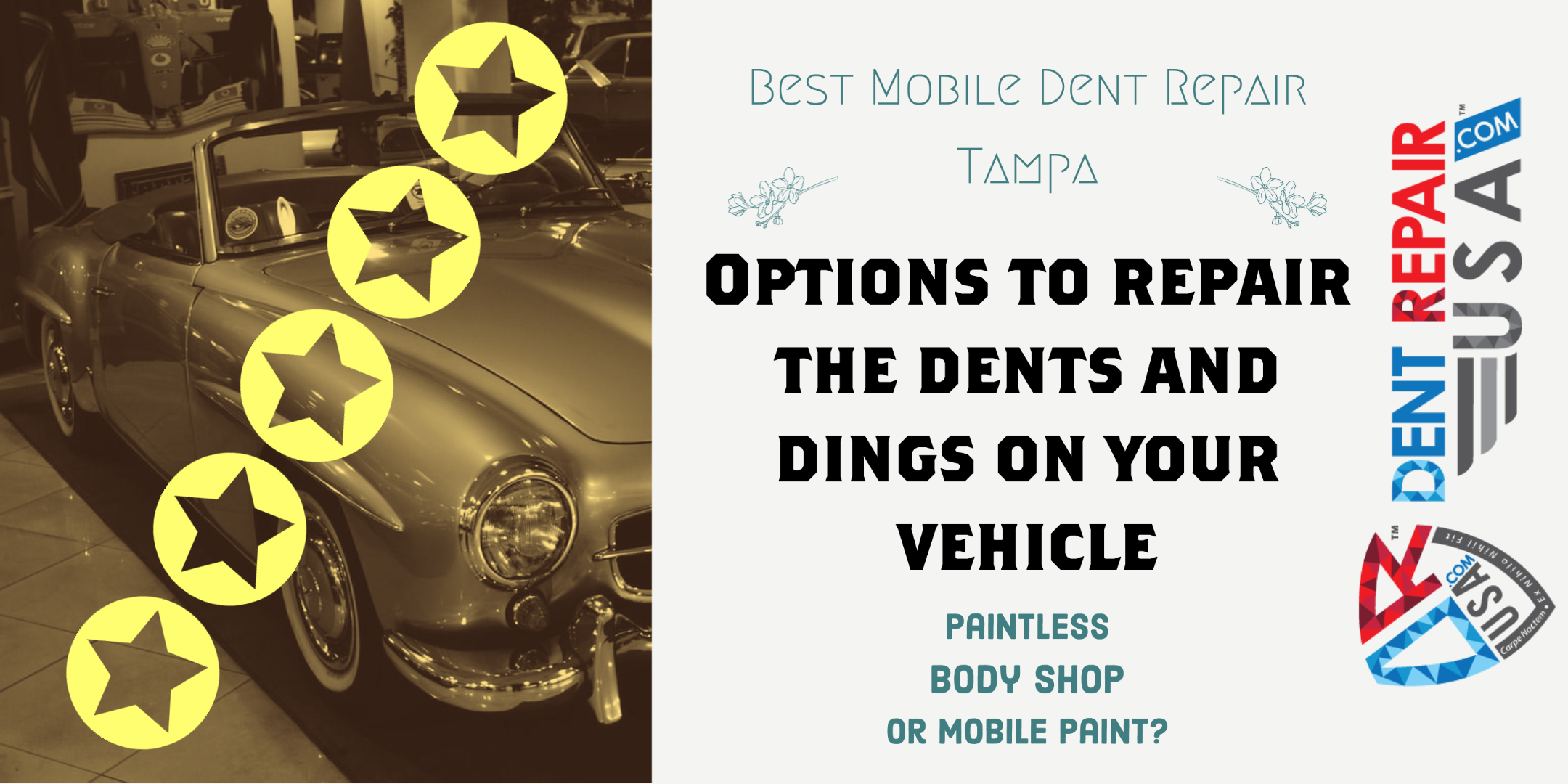 1. Best Mobile Dent Repair Service in Tampa Florida